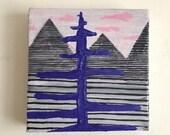 Stripes // Original Acrylic Painting // 6X6