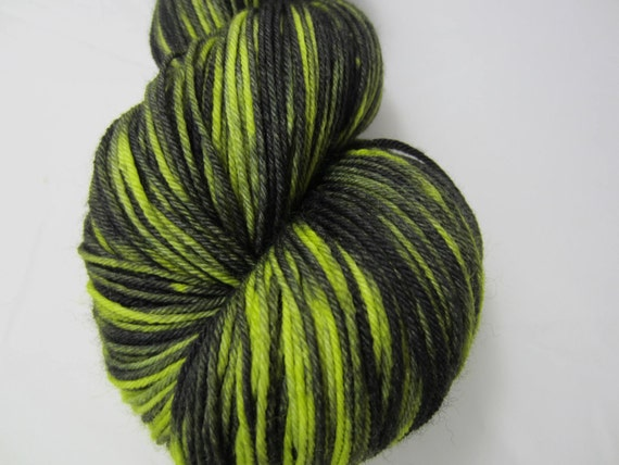 Swamp Gas - Dyed to Order - Hand Dyed - Merino Wool Yarn - Fingering Weight