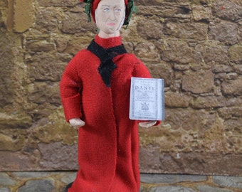 Dante Alighieri- Italian Poet-  Doll Miniature-  Classic Literature-  Middle Ages-  Cute and Tiny