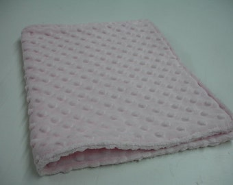 Baby Pink Minky Burp Cloth Double Sided  READY TO SHIP