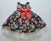 SAMPLE SALE - Evie Dress in Midnight Bouquet - Size 7
