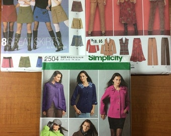 Simplicity 5304 2287 2504 Lot of 3 Sewing Patterns Sizes 8-10-12-14-16-18 Design Your Own Outfits Lots of Options