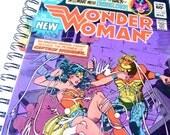 Wonder Woman Journal & Sketchbook // Recycled Vintage Comic