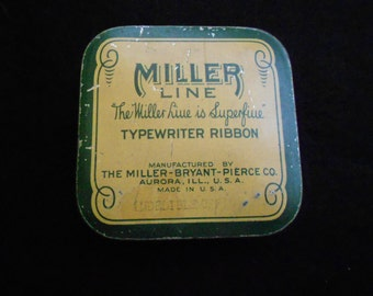 Miller/ Typewriter Ribbon/ Tin/ Mid Century