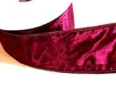 Burgundy Ribbon, Velvet Wired Fabric Ribbon 2 1/2 inches wide x 10 yards, Offray Vevelteen Ribbon
