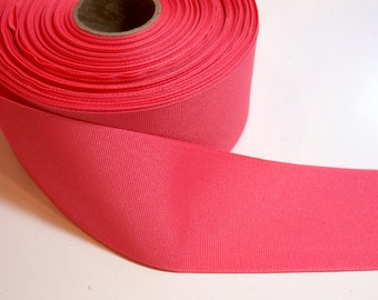 Wide Coral Ribbon, Coral Grosgrain Ribbon 2 1/4 inches wide x 10 yards