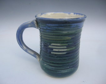 Blue mug with Texture
