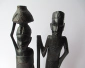 Vintage Tribal Wood Figurines
