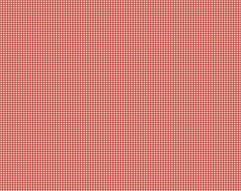 30% OFF Lucky Star Tiny Gingham Red - 1/2 Yard