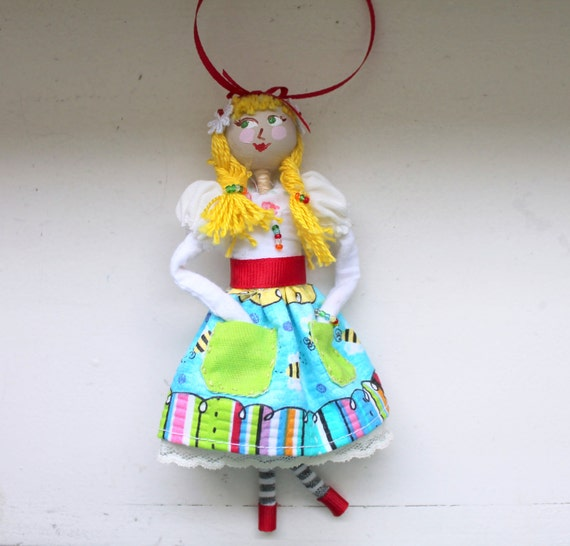 Handmade Cloth Doll May Day Princess