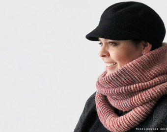 TUNISIAN CROCHET PATTERN - Ombre Infinity Scarf - Instant Download (pdf)