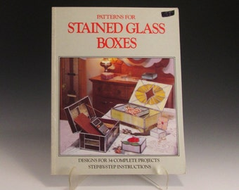 Stained Glass Pattern Book - 34 Patterns for Stained Glass Boxes - by Randy and Judy Wardell