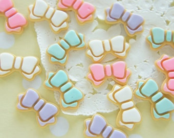 12pcs Icing Bow Cookie Cabochon (12mm22mm) CD620