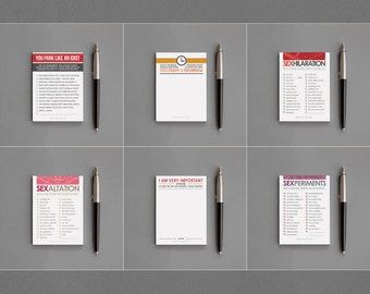 36 Sticky Notepads · Funny Bulk Notes · Wholesale Lot · Humor · Sarcastic · Humorous · Snarky · Retail · Bulk · Stationery / Whse 36 - WLS36