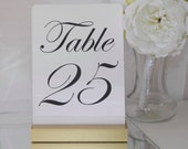 Table Number Holder + Gold Wedding Card Holder +Gold Table Card Holder (Set of 10)