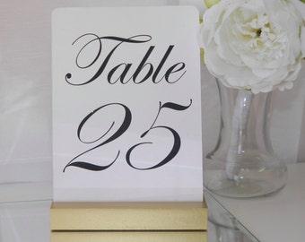 Table Number Holder + Gold Wedding Card Holder +Gold Table Card Holder