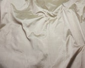 BEIGE Silk DUPIONI Fabric - fat 1/4