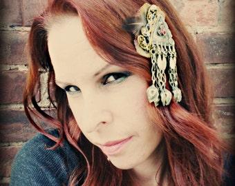 Tribaret for Magickal Creatures V - Boho ATS or Tribal Fusion Belly Dance Hair Clip