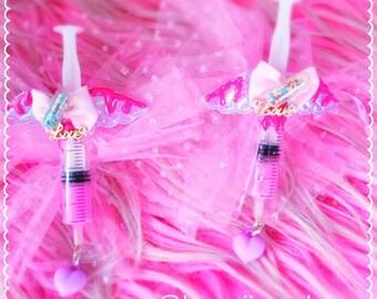 Love syringe 2-way clip, Menhera Kei Clip, Medical Clip