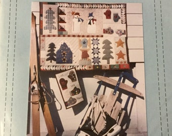 Wallhanging Quilt Pattern. uncut.  Winter Home Decoration, A Taste of Winter 36 by 29""