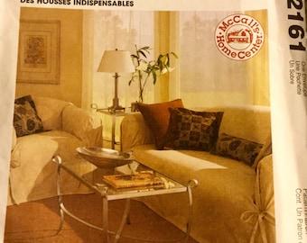 McCalls 2161 Home Decorating Cover Essentials Pattern. uncut.