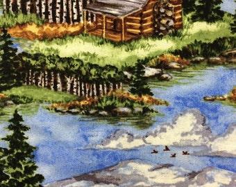 Cotton Blue Cabin Pillowcase