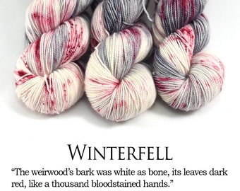 Winterfell - First Class MCN - Speckled Yarn - ASOIAF Yarn - Game of Thrones - Merino/Cashmere/Nylon, 400 yards/100g.