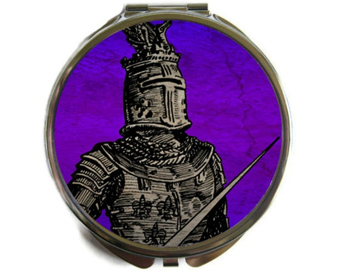 Knight Compact Mirror Pocket Mirror Large