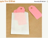Valentines Day Sale 10 Pack Itty Bitty 2.75X4 Inch Grey Grid Paper Print Bags