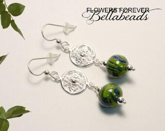 Flower Petal Jewelry, Memorial Jewelry, Mememorial Earrings, In loving Memory of a loved one, Funeral Flowers, Gates of Charleston Earrings