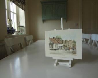 SALE - English Watercolor Print Buckingham Traditional English Town Scene #15 -  EnglishPreserves