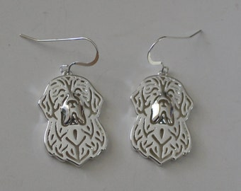NEWFOUNDLAND DOG Earrings - Sterling Earwires - Dogs, Pets