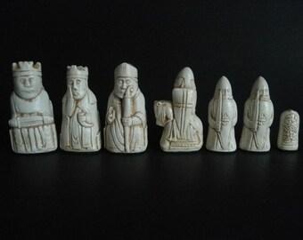 Isle of Lewis chess set Molds--set 'B' ---10 Molds