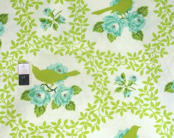Heather Bailey PWHB042 Up Parasol Mockingbird Chartreuse Fabric By The Yard