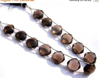 55% OFF SALE AAA Genuine Smoky Quartz Double Drilled Faceted Cushion Briolettes Size 14x14mm 8 Pieces 4 Matche d PairHigh Quality Manufactur
