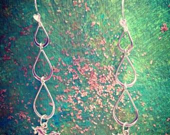 Unicorn Tears earrings in sterling silver