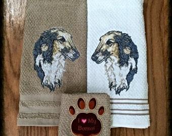 Borzoi decor towels kitchen/bathroom