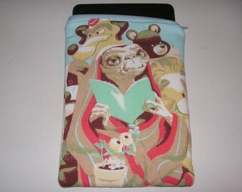 "ET movie handmade zipper fabric 7"" 8"" mini ipad Galaxy Kindle Fire Nexus case sleeve cover pouch tablet"
