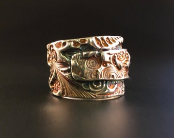 Textured Fine Silver Ring