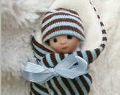 Hand Sculpted Bundle Baby Boy Ooak Art Doll Newborn Lovinclaydolls Lisa Haldeman Shower Gift Dollhouse Gender Reveal  Sculpt Clay
