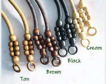 1 pairs of 11 inches wooden beads handles Bag Supply