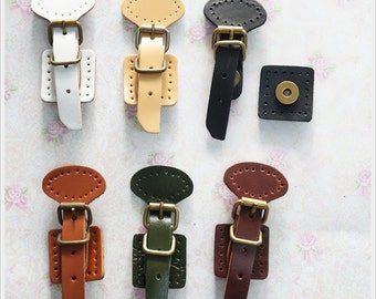 1 sets Clutch Lock Leather magnetic snap closure Bag Supply