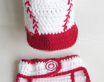 Crochet Baseball Photo Prop Set