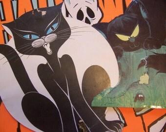 vintage halloween cardboard pin ups