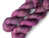 NEW Merino Mulberry Silk Sock Yarn Handdyed, Wine Sorbet