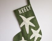 Large Custom Felt Starfish Stocking