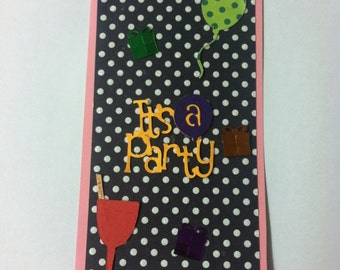 Party Birthday Paper Piecing Title Mat Scrapbook Album Page
