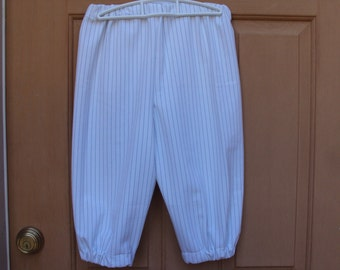 White knickers with navy stripes, Oliver knickers, Newsies, Pitates, childrens sizes