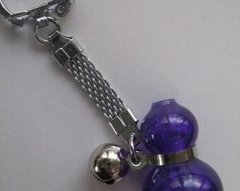 Good Luck Purple Hyotan Gourd Keychain