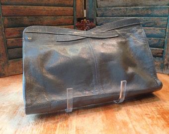 Vintage grey clutch bag
